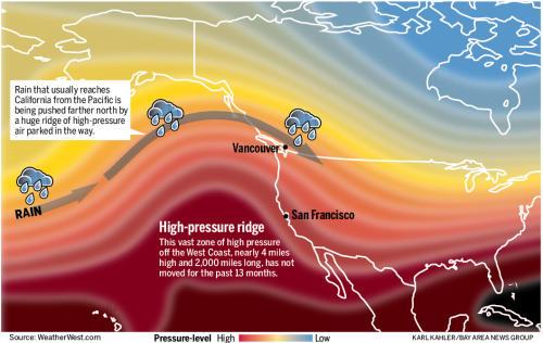 Ridge California Drought Drought Ridge 011414